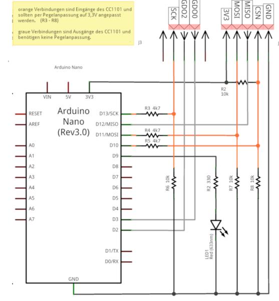 Schaltplan CUL Arduino
