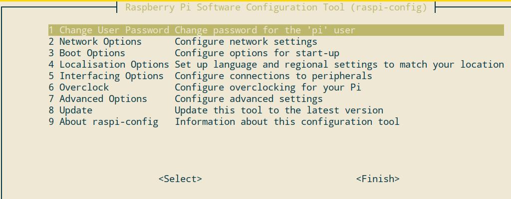 Raspberry Pi Einstellungen