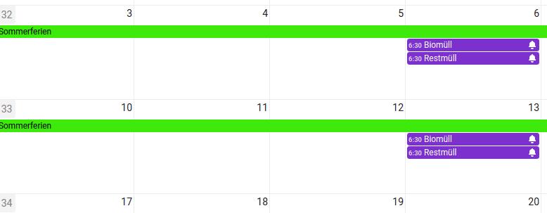 Nextcloud Kalender