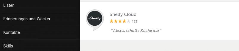 Alexa Shelly Skills