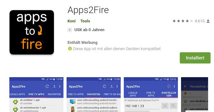 app2Fire App aus Google Play