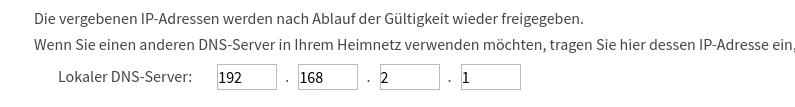 Fritzbox - Locale DNS Server