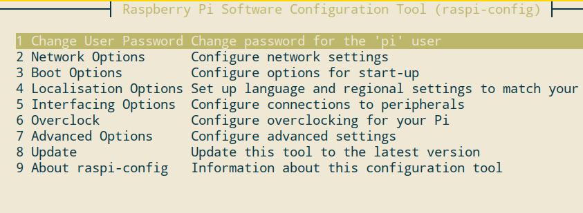 Raspbian Konfiguration