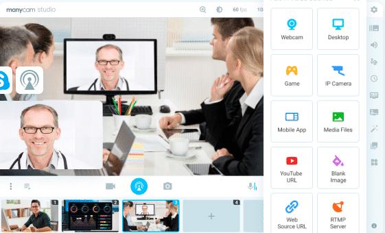 Virtuelle Webcam - ManyCam