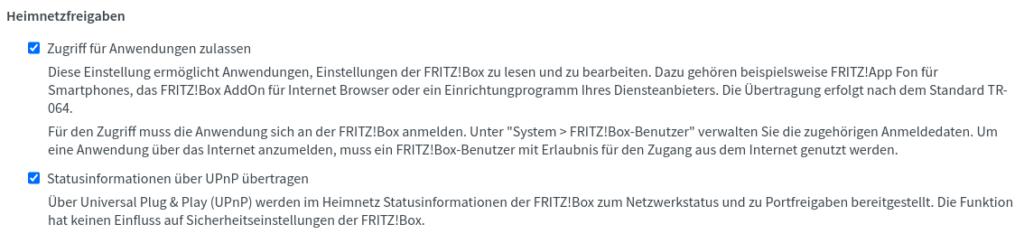 Fritzbox Oberfläche TR064